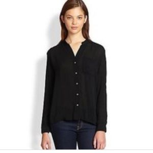 James Perse Collarless Button Down Shirt